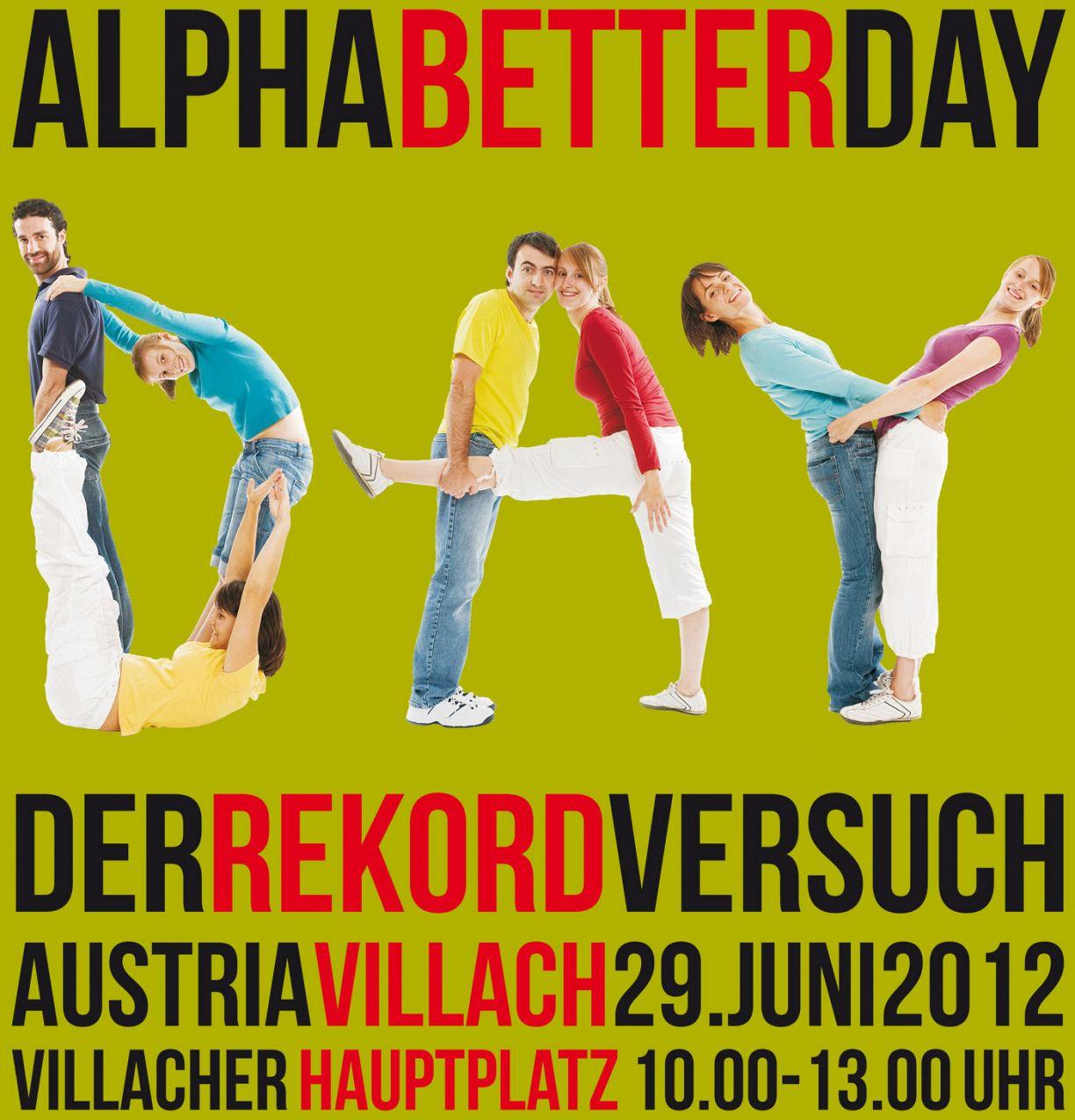 AlphaBetterDay: Rekordversuch in Villach am 29. Juni 2012